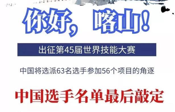 定了,第45届世界技能大赛中国参赛选手名单出炉!